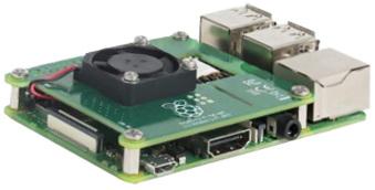PoE Hat monté sur Raspberry Pi