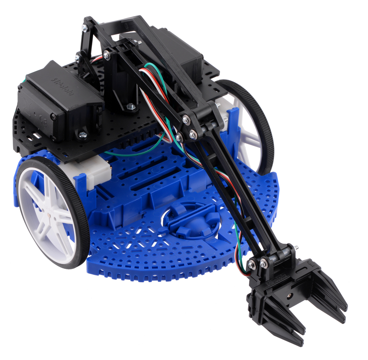 Robot Romi avec bras robotique