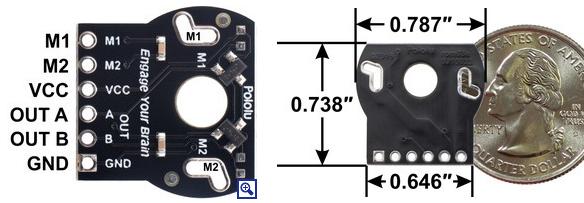 Montage de l'encodeur rotatif sur le moteur