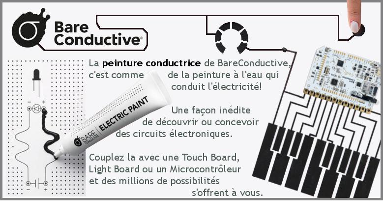 Electric Paint, la peinture conductrice, permet de réaliser des circuits électroniques innovants