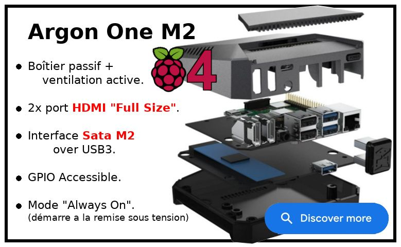 Argon One M2 pour Raspberry Pi 4