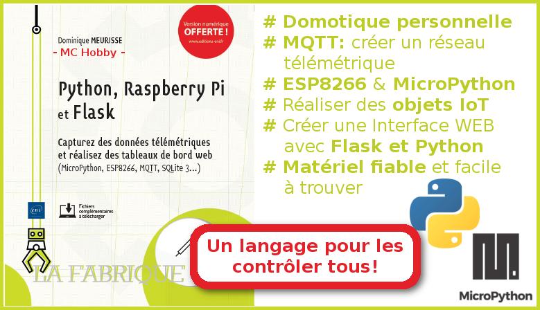 Livre Raspberry-Pi, Python et Flask