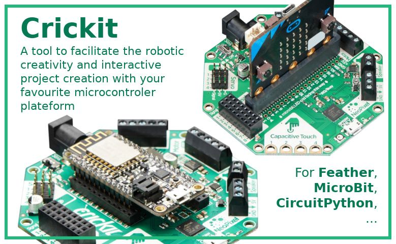 Crickit - Creative Robotics & Interactive Construction Kit pour feather, microbit, circuit playground